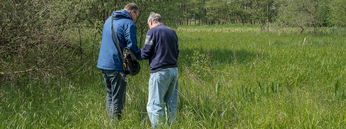 Vorbereitung der naturkundlichen Führung Tävsmoor