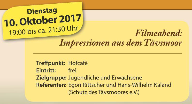 Filmabend Schäferhof 10. Oktober