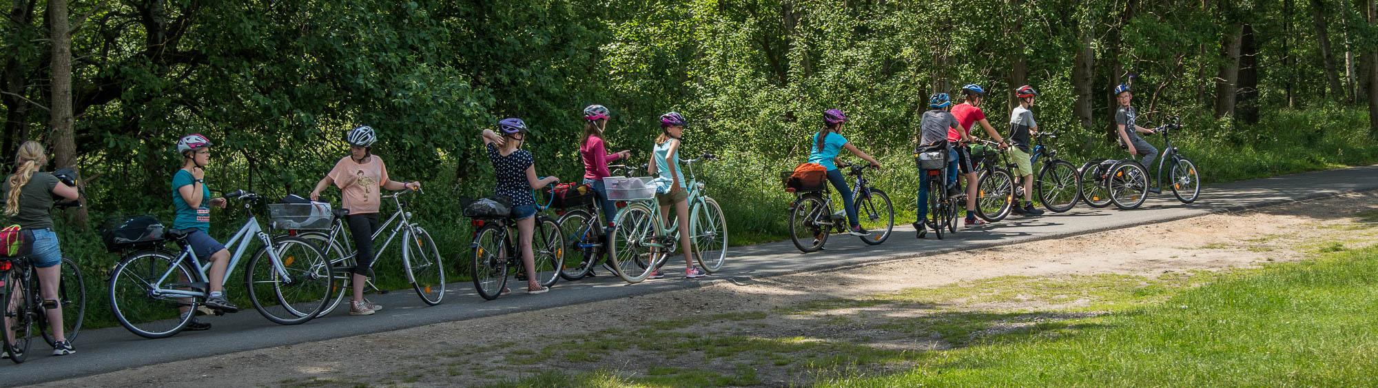 Vier Lehrer, vierzig Schüler auf dem Rad zurück nach Tornesch