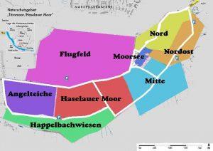 Übersicht der Wege und Bezeichnungen der Flächen