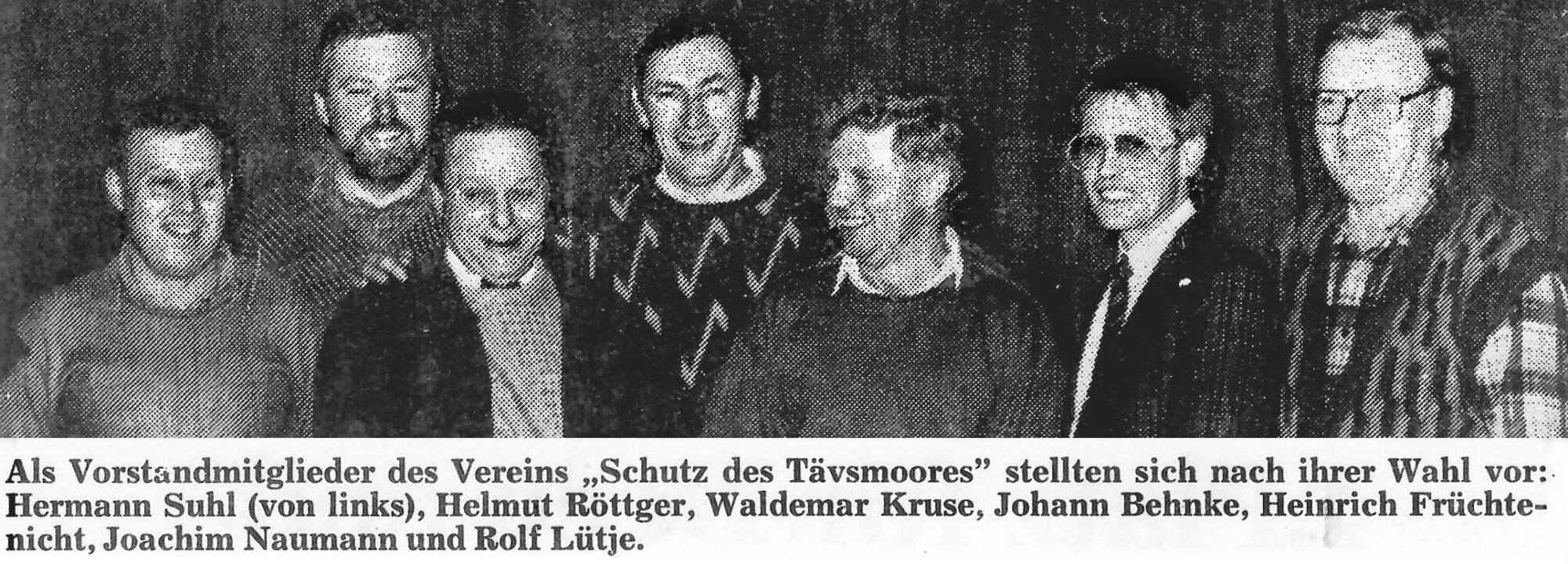 Gründung des Moorvereins, Vereinsgeschichte